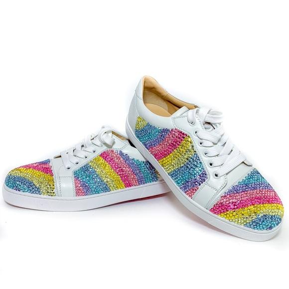 a5cae75172c Christian Louboutin Rainbow Strass Viera Sneakers